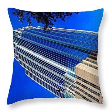 #blue Blue Tuesday.  #bluesky And Blue Throw Pillow