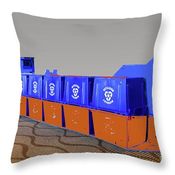 Blue Box Oil Tanker Throw Pillow