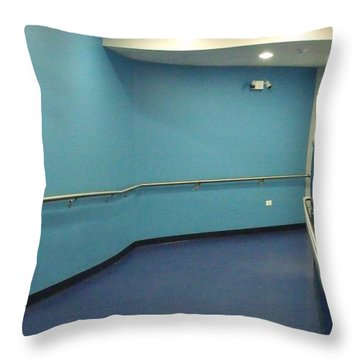 Blue Corridor Throw Pillow by Anna Villarreal Garbis