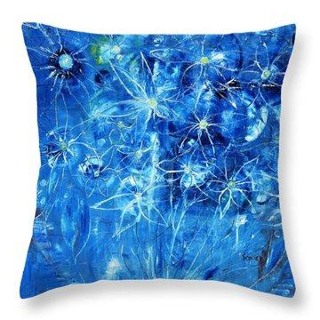Blue Design Throw Pillow