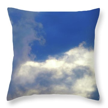 Blue Throw Pillow by Jesse Ciazza