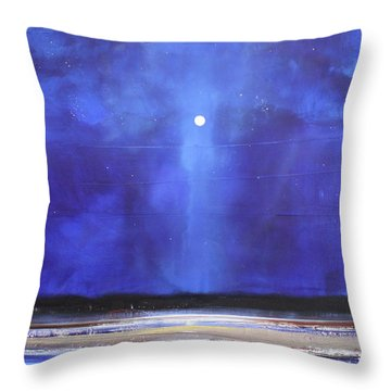 Blue Night Magic Throw Pillow by Toni Grote
