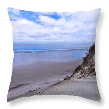 Throw Pillow featuring the photograph Reflective Blue by Laura Ragland