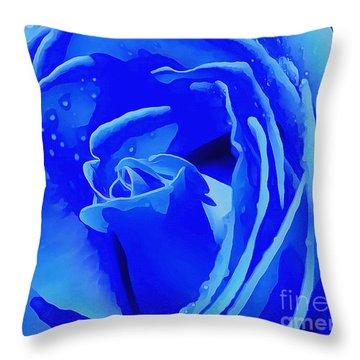 Blue Romance Throw Pillow