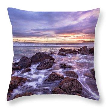 Blueberry Sea Throw Pillow