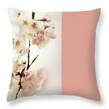 Throw Pillow featuring the photograph Blushing Blossom by Jessica Jenney