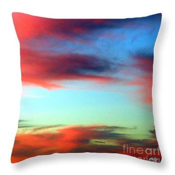 Throw Pillow featuring the photograph Blushed Sky by Linda Hollis