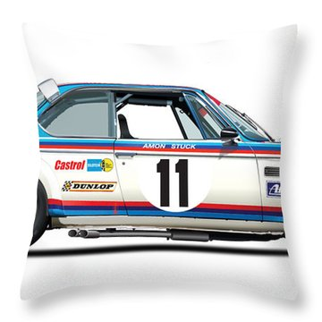 Bmw 3.0 Csl Chris Amon, Hans Stuck Throw Pillow