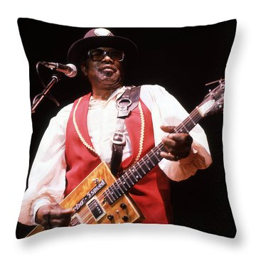 Bo Diddley Throw Pillow