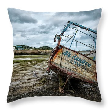 Boats By The Sea Throw Pillow
