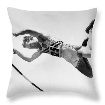 Bob Richards (1926- ) Throw Pillow by Granger