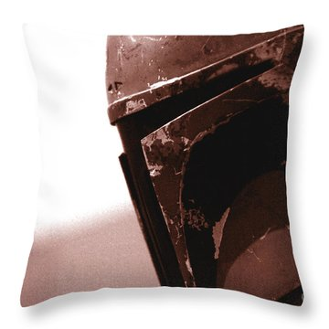 Throw Pillow featuring the photograph Boba Fett Helmet 32 by Micah May