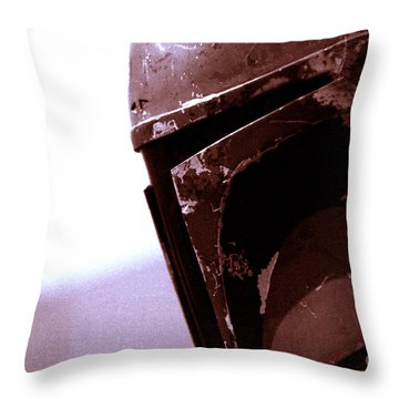 Throw Pillow featuring the photograph Boba Fett Helmet 34 by Micah May