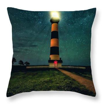 Bodie Island Night Throw Pillow
