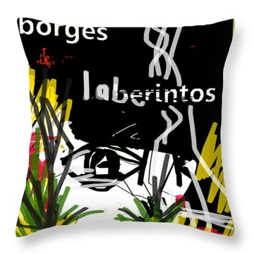 Borges' Labyrinths Poster Throw Pillow