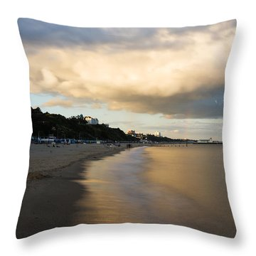 Bournemouth Pier At Sunset Throw Pillow