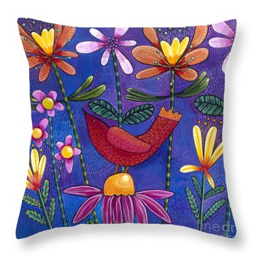 Throw Pillow featuring the painting Brand New Day by Carla Bank
