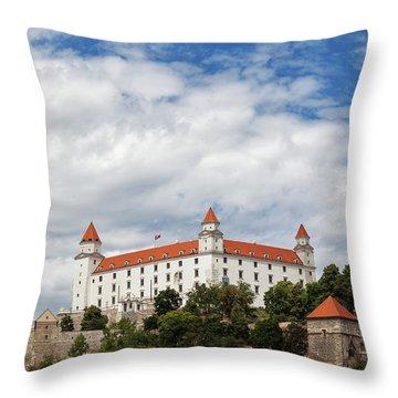 Bratislava Castle Throw Pillow