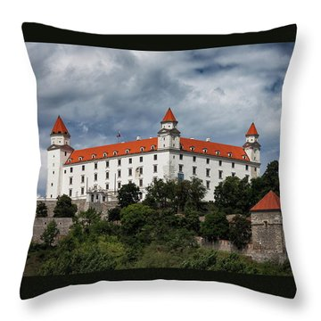Bratislava Castle In Slovakia Throw Pillow