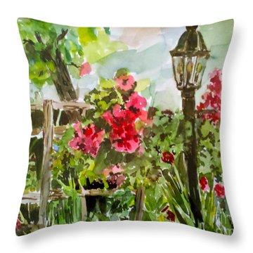 Brazos Gardens Throw Pillow