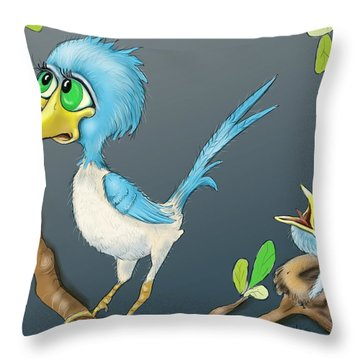 Breakfast Throw Pillow by Hank Nunes