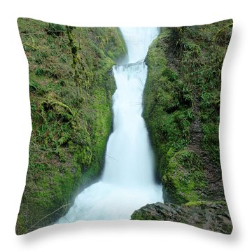 Throw Pillow featuring the photograph Bridal Veil Falls by Jeff Swan
