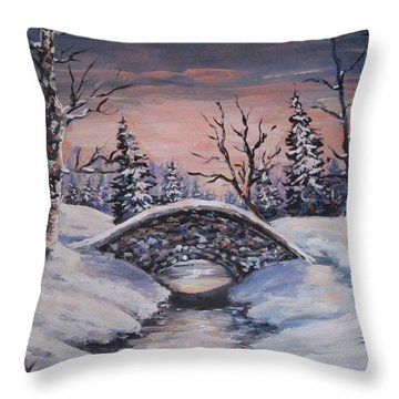 Bridge Of Solitude Throw Pillow