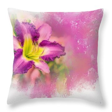 Bright Lily Throw Pillow