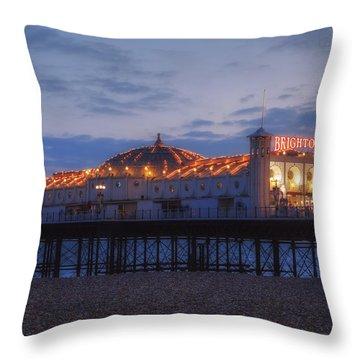 Palace Pier Throw Pillows