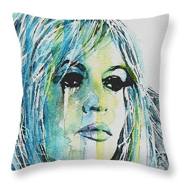 Brigitte Bardot Throw Pillow