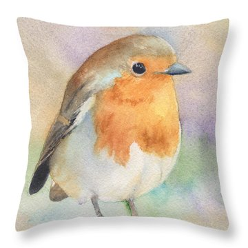 British Robin Throw Pillow