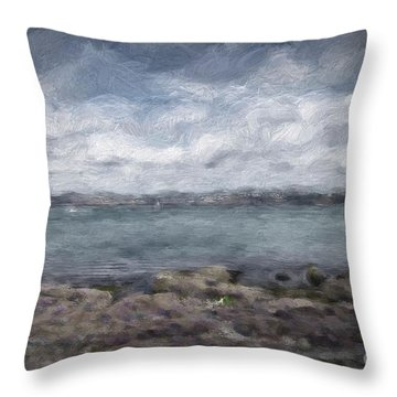 Throw Pillow featuring the photograph Brixham Harbour by Patricia Hofmeester