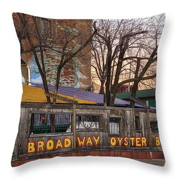 Broadway Oyster Bar Throw Pillow