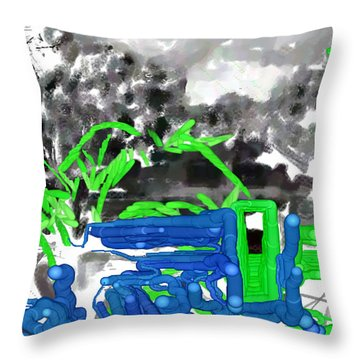 Broken Homes Throw Pillow