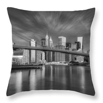 Brooklyn Bridge From Dumbo Throw Pillow