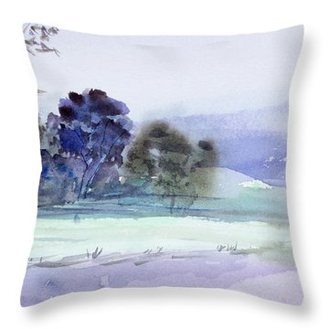 Bruny Island At Dusk Throw Pillow