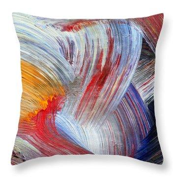 Brush Strokes Throw Pillow by Michal Boubin