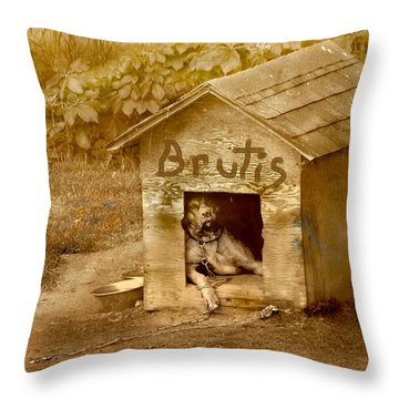 Brutis Throw Pillow