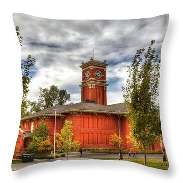 Bryan Hall On The Wsu Campus Throw Pillow