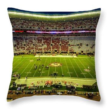 Bryant-denny Stadium Throw Pillow