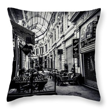 Monochrome Bucharest  Macca - Vilacrosse Passage Throw Pillow