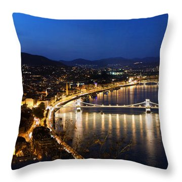 Budapest. View From Gellert Hill Throw Pillow