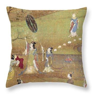 Buddha: Birth Throw Pillow