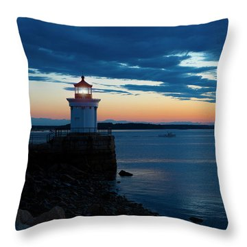 Bug Light, Portland Maine Throw Pillow