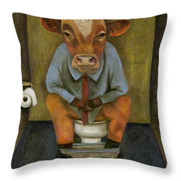 Bull Shitter Throw Pillow