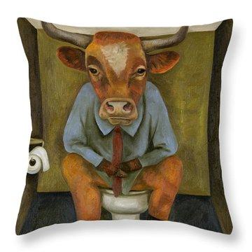 Bull Shitter Throw Pillow