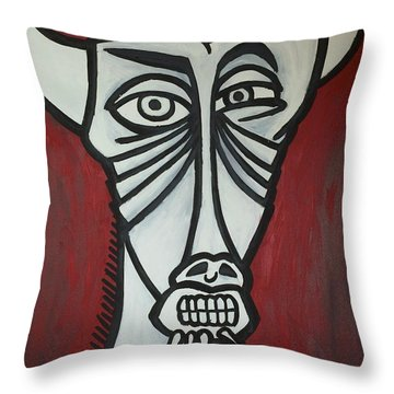 Bull Throw Pillow by Thomas Valentine
