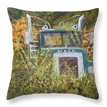 Bulldog In The Bushes Throw Pillow