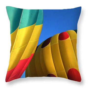 Throw Pillow featuring the digital art Bump Mates by Gary Baird