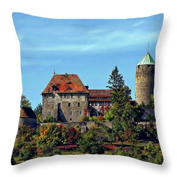Burg Colmberg Throw Pillow